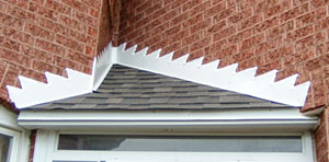 step flashing on porch roof